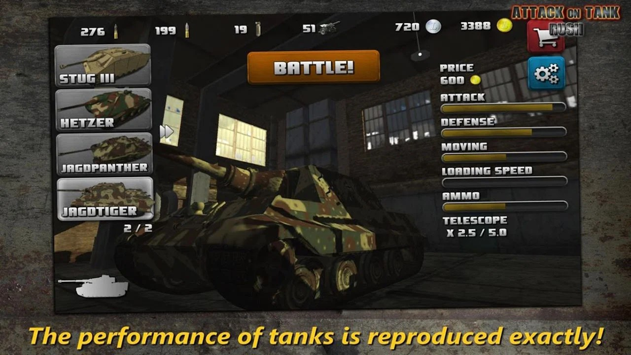 Tank Rush Attack Screen 2