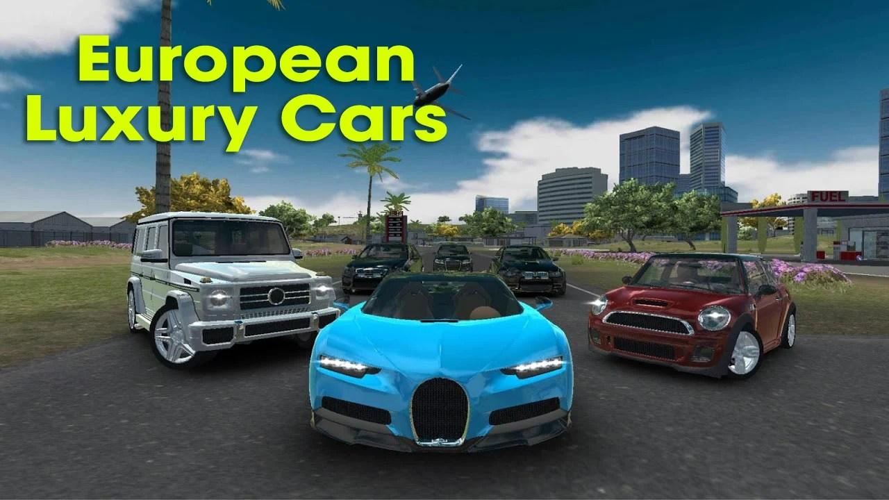 European luxury car poster