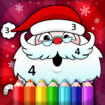 Christmas Coloring Book By Numbers