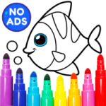 Learning Coloring Game for Kids Preschoolers 28.0