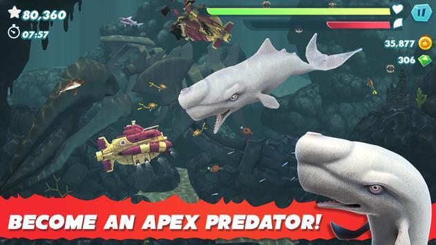 Evolución del tiburón hambriento