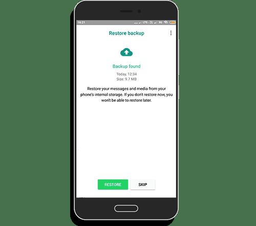 Restore chat data from whatsapp to gbwhatsapp