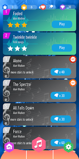Alan Walker Best Piano Tiles DJ 0.9 screenshots 2