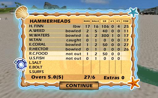 Beach Cricket 2.5.5 screenshots 7