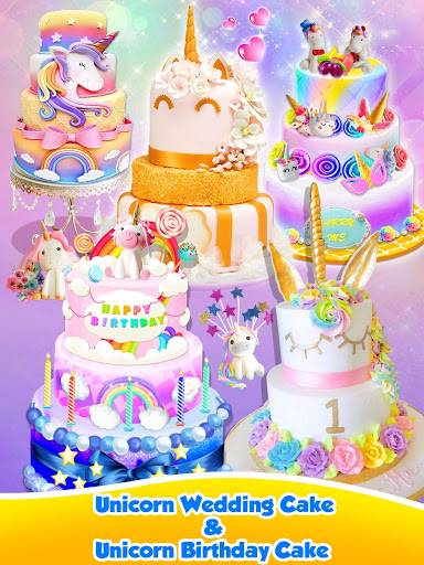 Unicorn Food – Sweet Rainbow Cake Desserts Bakery 2.8 screenshots 18