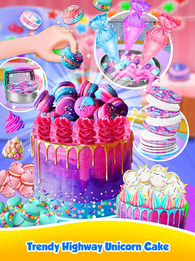 Unicorn Food – Sweet Rainbow Cake Desserts Bakery 2.8 screenshots 19