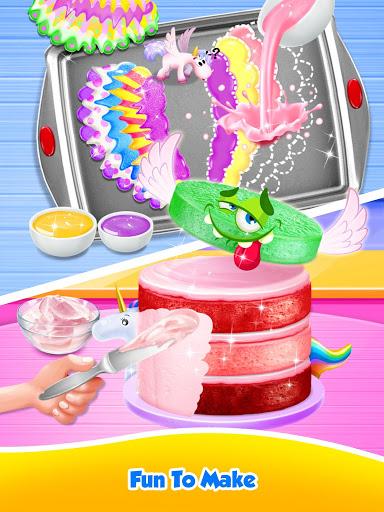 Unicorn Food – Sweet Rainbow Cake Desserts Bakery 2.8 screenshots 6
