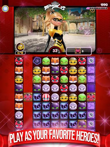 Miraculous Crush A Ladybug amp Cat Noir Match 3 3.0.1568 screenshots 16