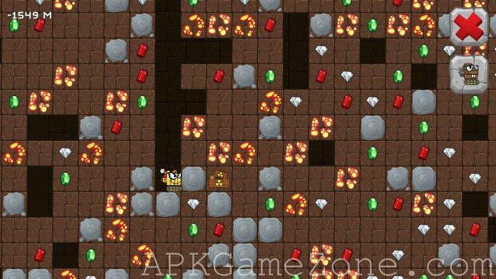 Digger machine find minerals APK mod