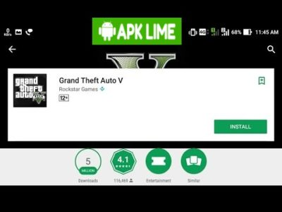 GTA V google play store apk obb data free download
