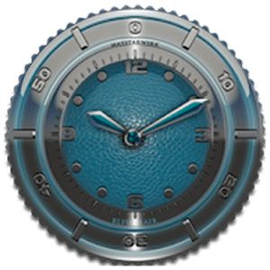 Clock Widget Lightblue Eleplan