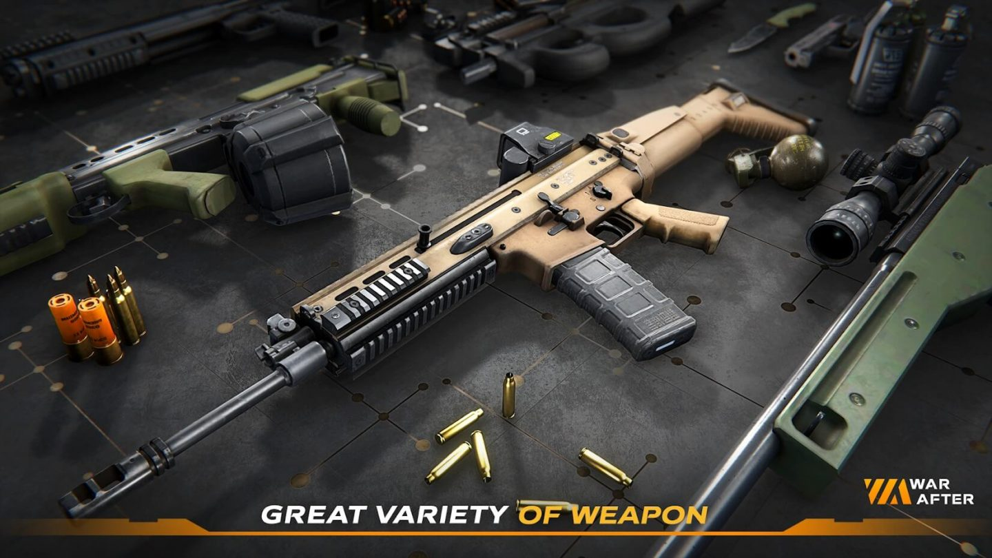 War After Shooter weapons 1440x810