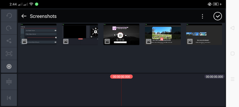 Screenshot of Adobe Premiere Pro App