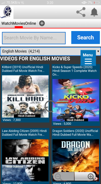 Screenshot of Watch Online Movies.com.pk Apk