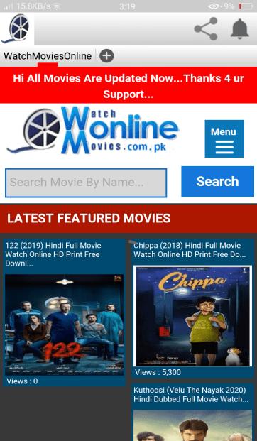 Screenshot of Watch Online Movies.com.pk App