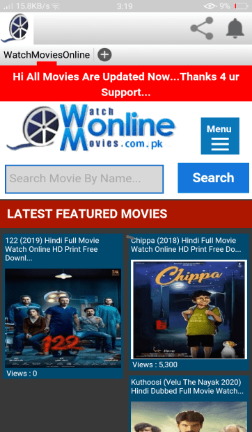 Screenshot of Watch Online Movies.com.pk App