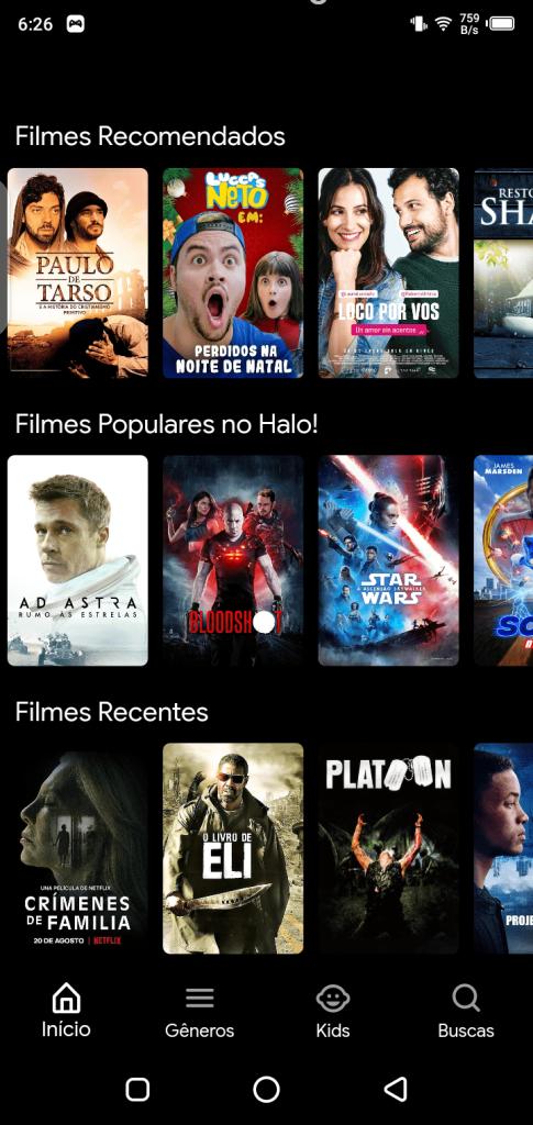 Screenshot of Hola Filmes Apk