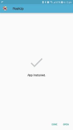 Screenshot of MashUp App