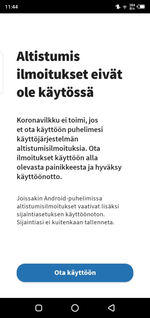 Screenshot of Koronavilkku