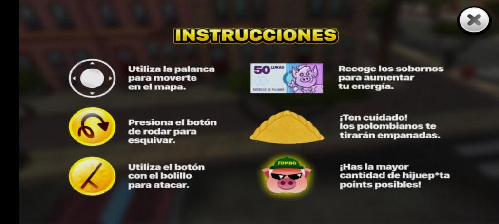 Screenshot of Tombo Survivor Game