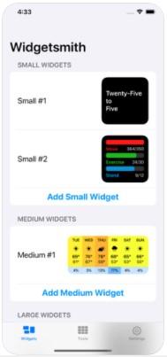 Screenshot of Widgetsmith Apk
