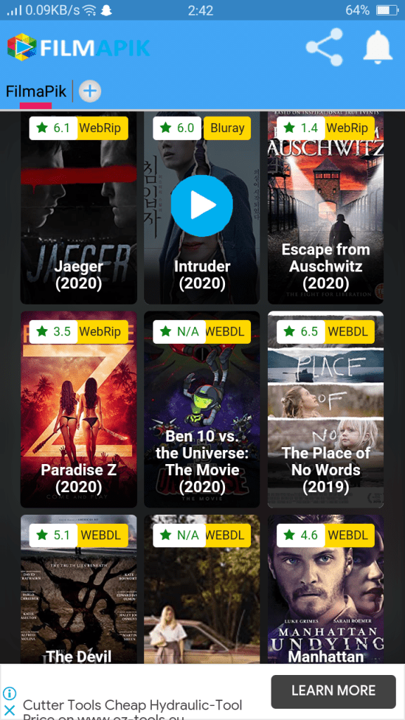 Screenshot of Filmapik Apk