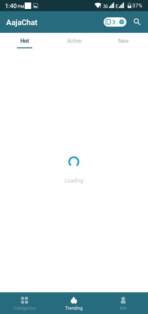 Screenshot of AajaChat