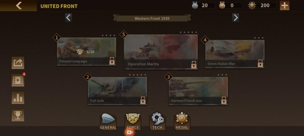 Screenshot of Glory of Generals 3 Game