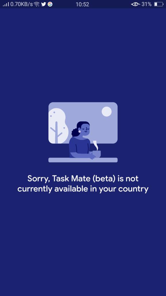 Screenshot of Google Task Mate App