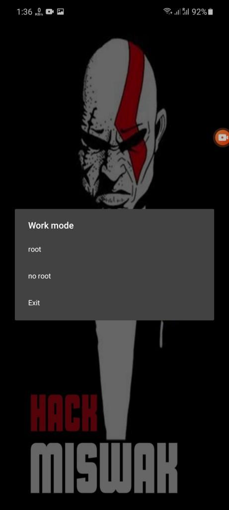Screenshot of MISWAK Hack
