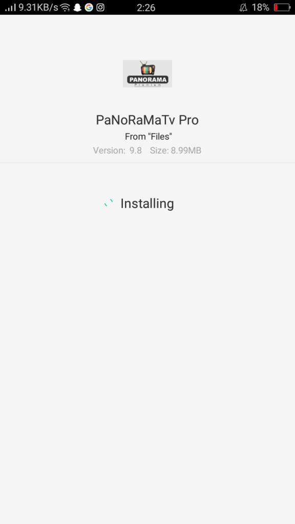 Screenshot of Panorama TV Pro Apk
