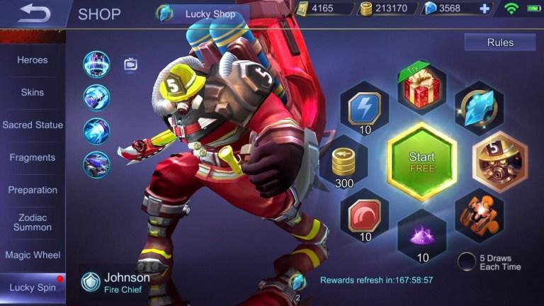 Screenshot of Skin Fire Chief ML
