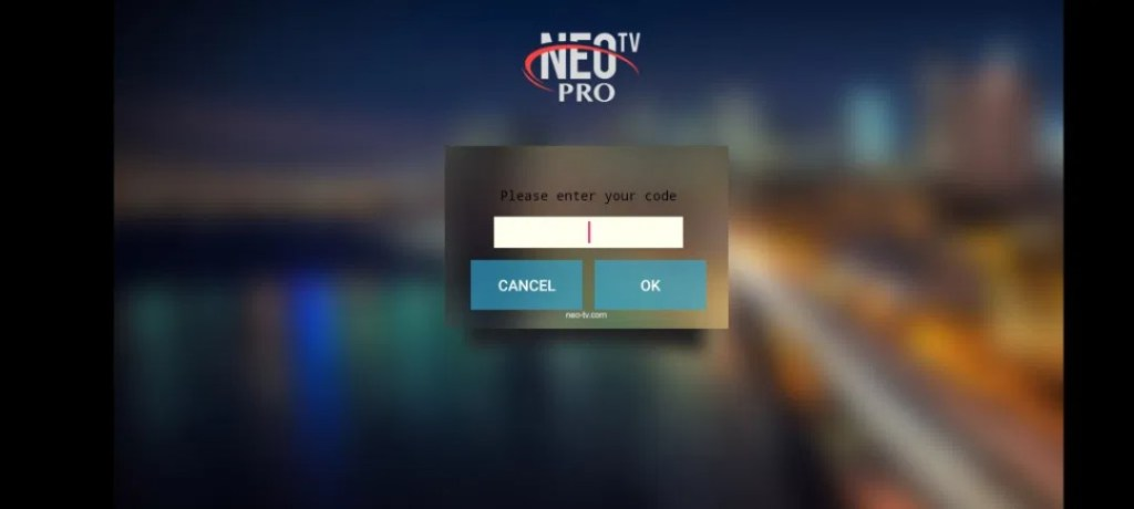 Screenshots of NEOTV Pro 2 App