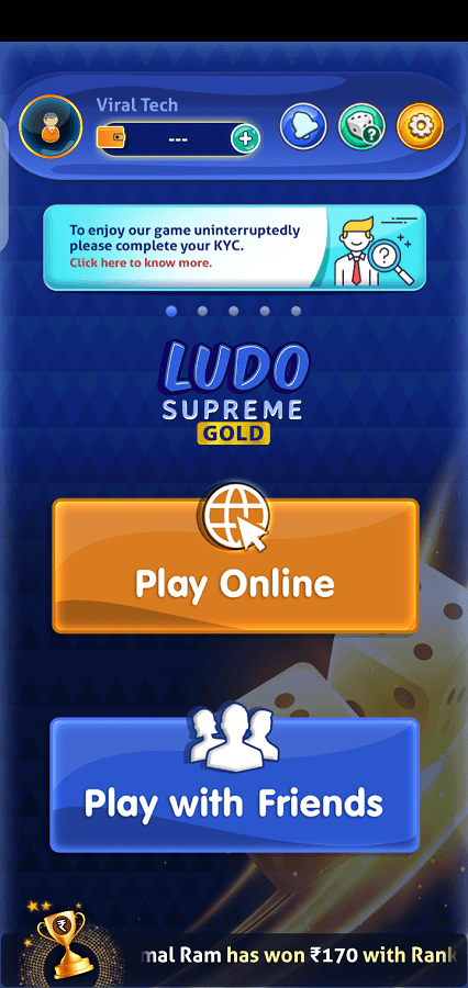 Screeenshot of Ludo Gold Game