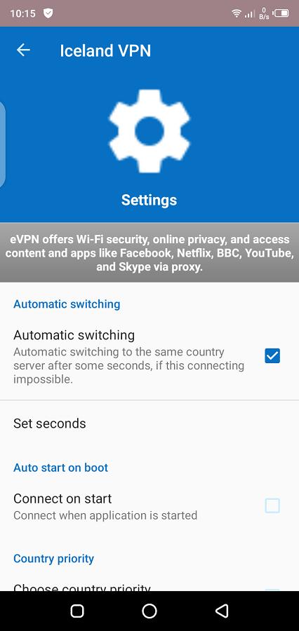 Screeenshot of VPN For Iceland