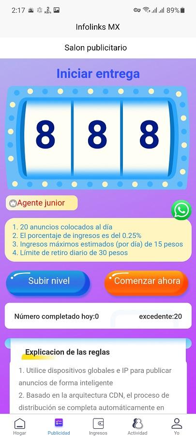 Screenshot of Infolinks MX Android