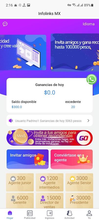 Screenshot of Infolinks MX Apk