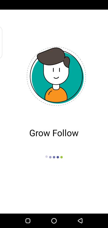 Screenshot of Grow Follow App