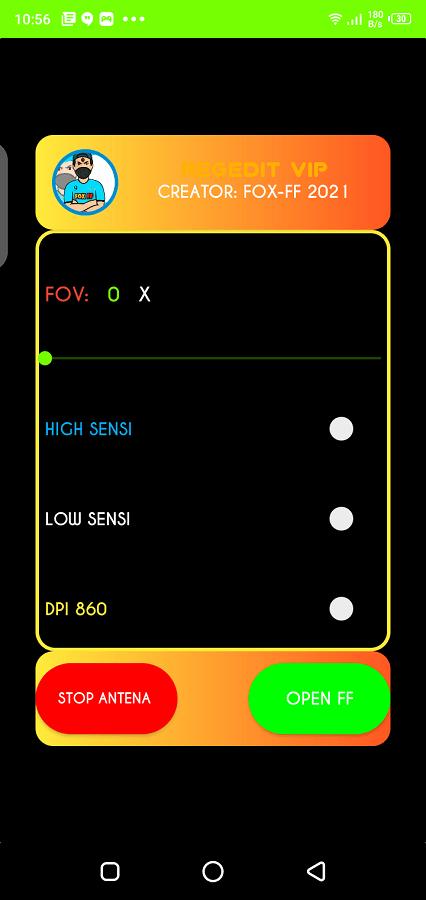 Screenshot of Injector FF Max V2 App