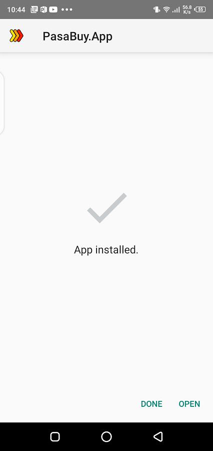 Screenshot of PasaBuy Android