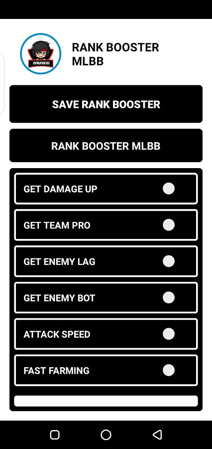 Screenshot of Zalaxis Rank Booster