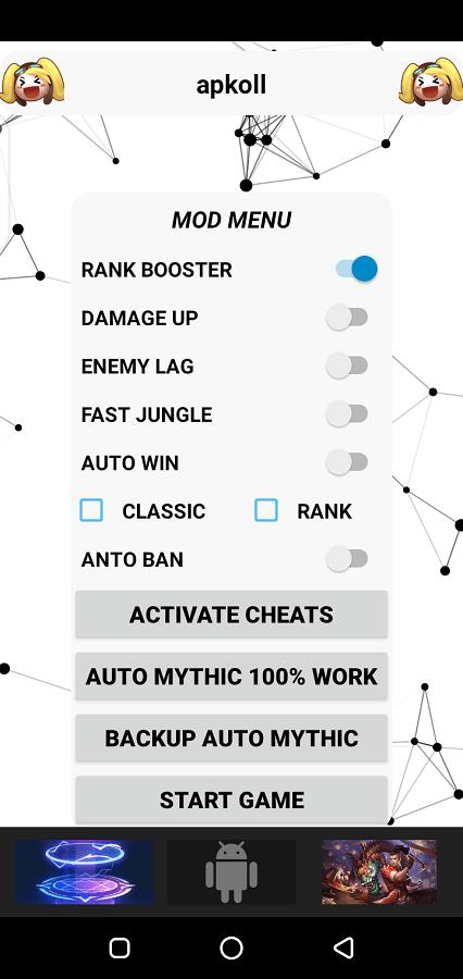 Screenshot of Mod Menu Rank Booster