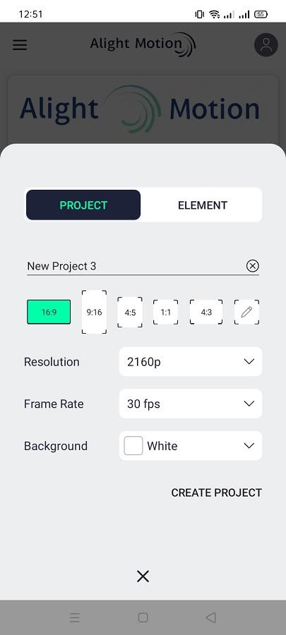 Screenshot of Alight Motion Mod Raja Download