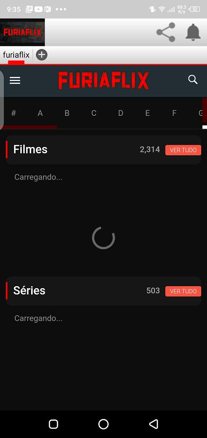 Screenshot of Furiaflix App