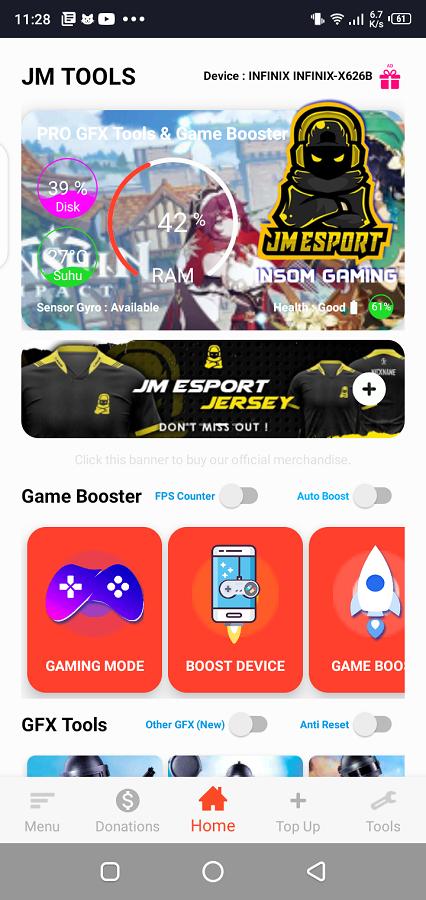 Screenshot of JM Tools Android