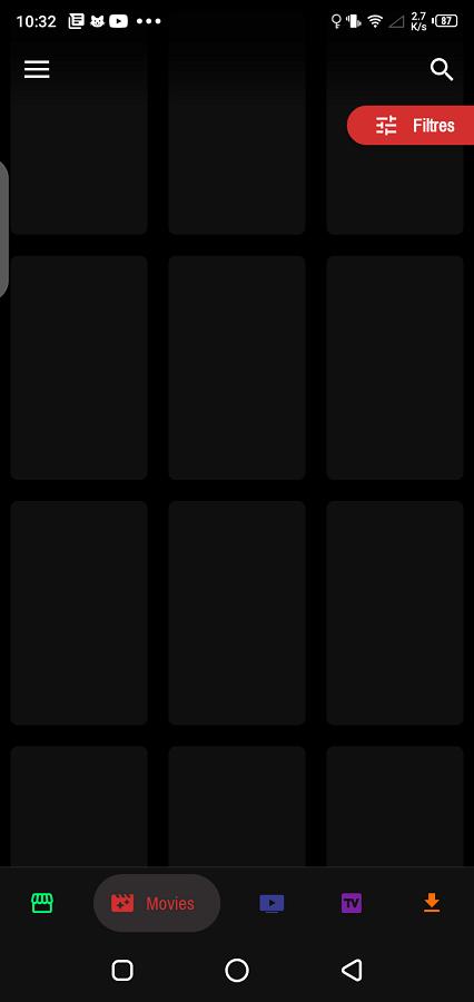 Screenshot of Stream India App
