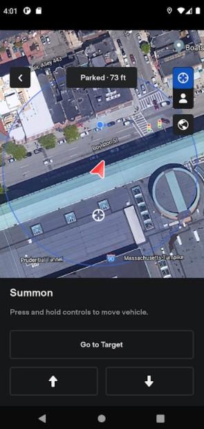 Screenshot of Tesla App