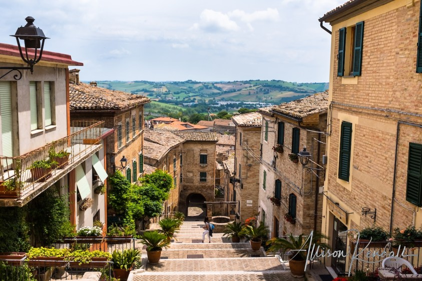 Scenes and details from the charming Italian village of Corinaldo, in the Marche region.