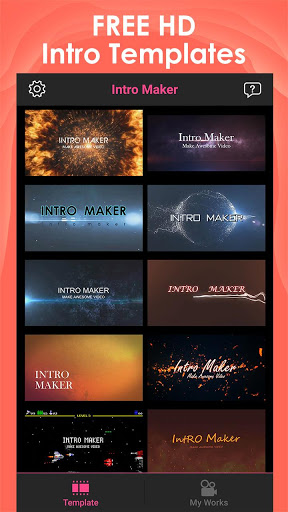 Intro Maker for YouTube – music intro video editor 2.1.6 screenshots 1