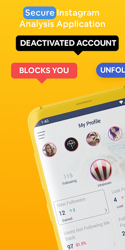 Followers amp Likes Tracker for Instagram – Repost 2.0.1 screenshots 1